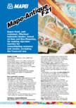 Liant hidraulic filerizat, superfluid, pe baza de var MAPEI - Mape-Antique F21