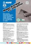 Mortar ultrafin permeabil pe baza de var MAPEI - Mape-Antique FC Ultrafine