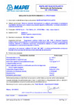 Declaratie de performanta: Nr. CPR-IT1/0604 MAPEI - MAPE-ANTIQUE ECOLASTIC