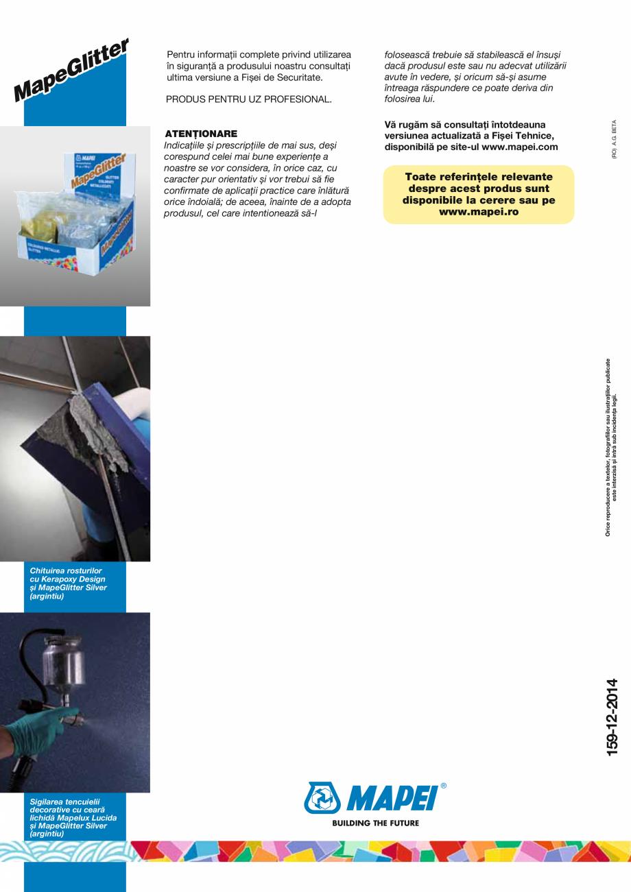 Pagina 2 - Glitter colorat, cu aspect metalic, pe baza de poliester, aluminiu si rasini epoxidice...
