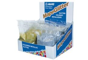 Fulgi colorati metalizati pentru insertii metalice si mozaic din sticla Fulgi colorati metalizati MAPEI sunt folositi in amestec cu KERAPOXY DESIGN. Utilizat in deosebi la placi cu insertii metalice si mozaic din sticla.
