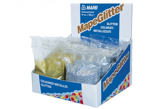 Fulgi colorati metalizati pentru insertii metalice si mozaic din sticla MAPEI