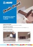 Gura de scurgere laterala pentru terase si balcoane MAPEI - DRAIN FRONT