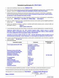 Declaratie de performanta - Rasina epoxidica bi-componenta pentru lipiri structurale