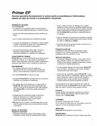 Amorsa epoxidica bicomponenta in solvent pentru consolidarea si hidroizolarea sapelor si a pardoselilor industriale