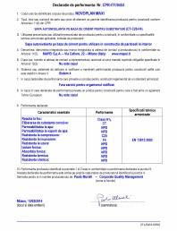 Declaratie de performanta - sapa autonivelanta pe baza de ciment pentru substraturi (CT-C20-F4)
