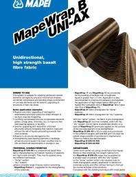 Tesatura unidirectionala din fibre de bazal cu rezistenta ridicata