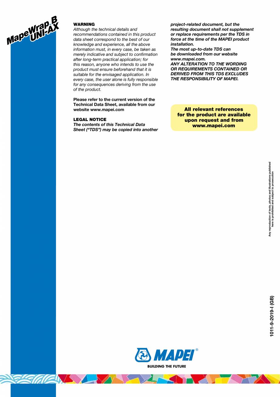 Pagina 6 - Tesatura unidirectionala din fibre de bazal cu rezistenta ridicata MAPEI MAPEWRAP B...
