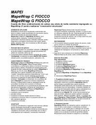 Coarda din fibre unidirectionale de carbon sau sticla de inalta rezistenta impregnate cu MapeWrap 21 pentru