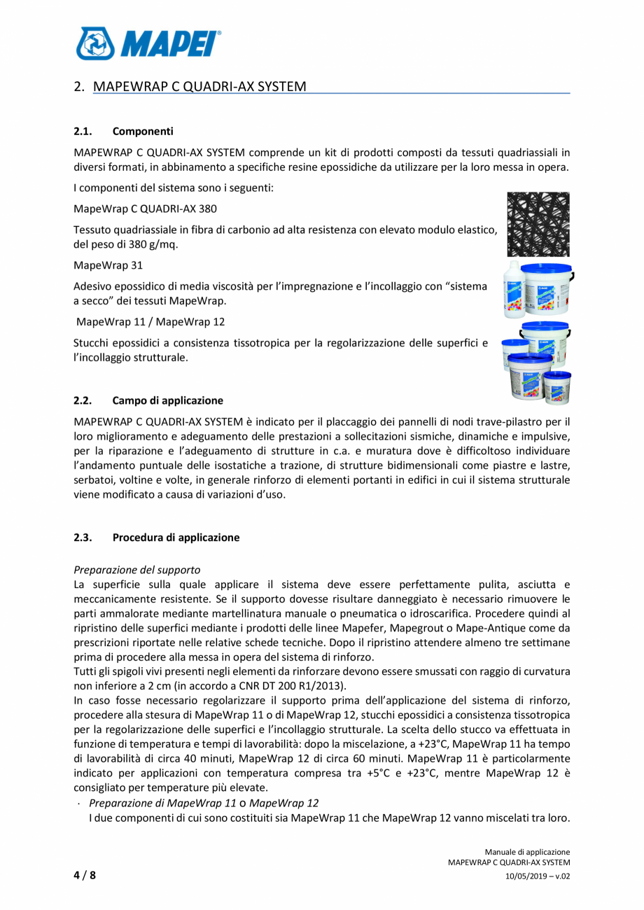 Pagina 4 - Sistem de consolidare structurala din tesatura din fibra de carbon cvadridirectionala -...
