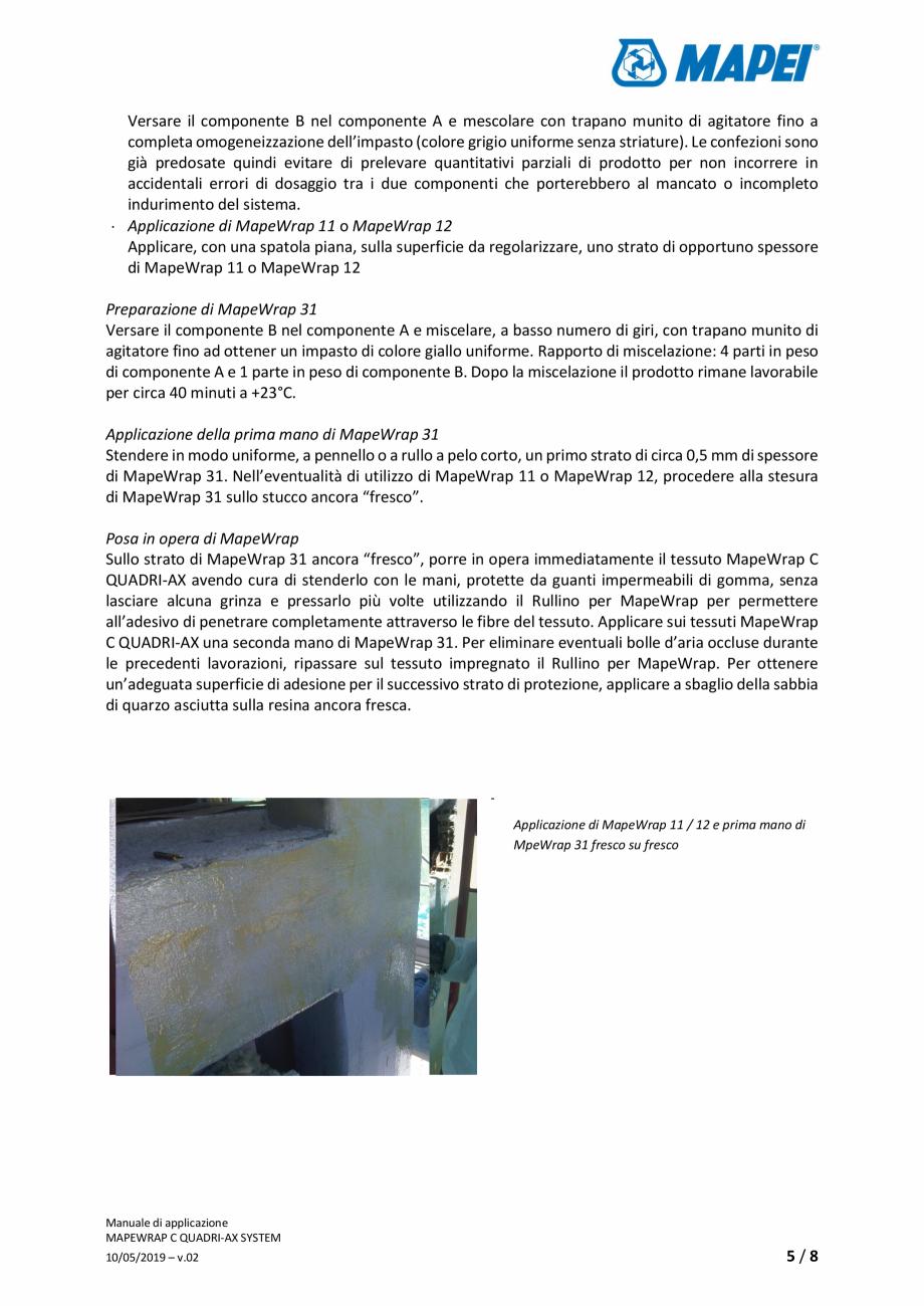 Pagina 5 - Sistem de consolidare structurala din tesatura din fibra de carbon cvadridirectionala -...