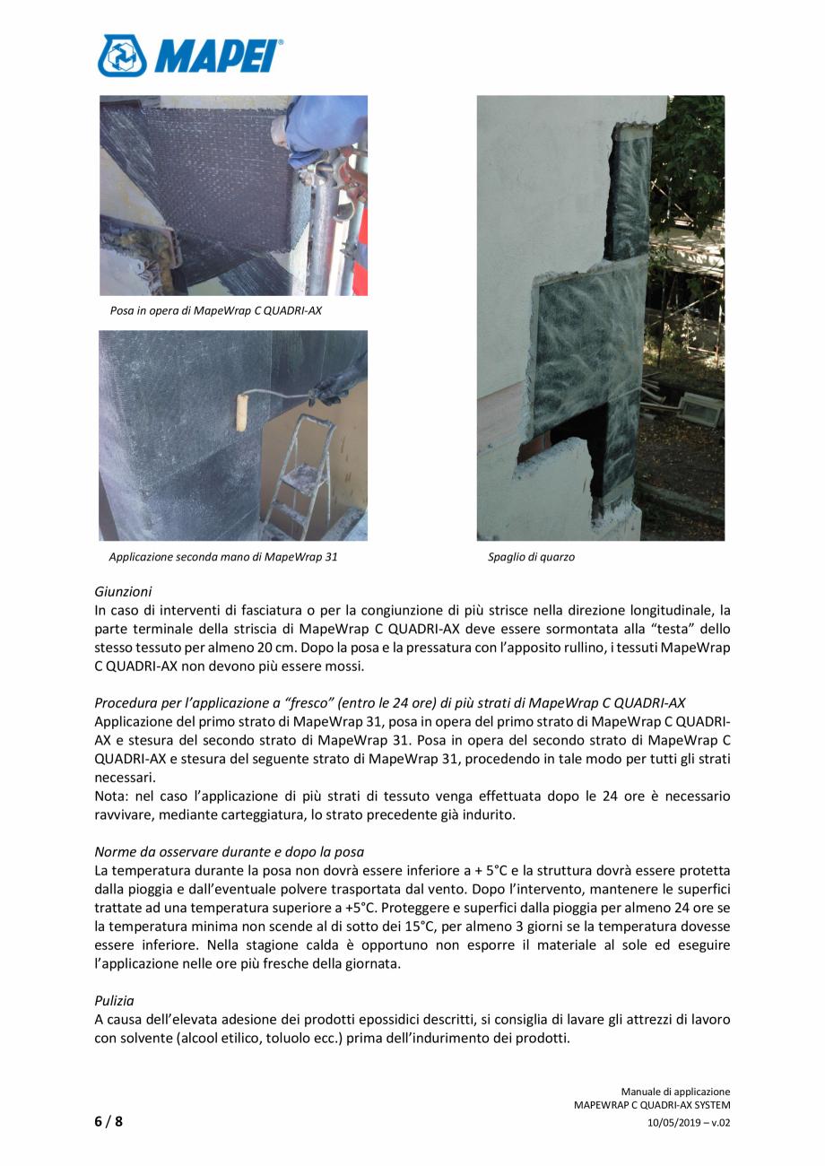Pagina 6 - Sistem de consolidare structurala din tesatura din fibra de carbon cvadridirectionala -...