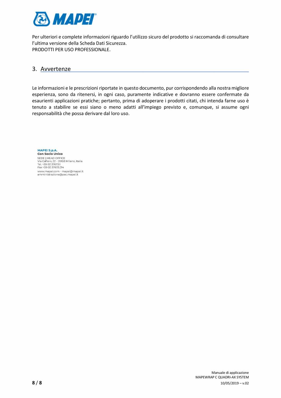 Pagina 8 - Sistem de consolidare structurala din tesatura din fibra de carbon cvadridirectionala -...