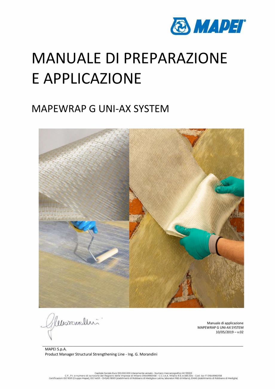 Pagina 1 - Sistem de consolidare structurala - Manual de prepapre si aplicare MAPEI MAPEWRAP G...