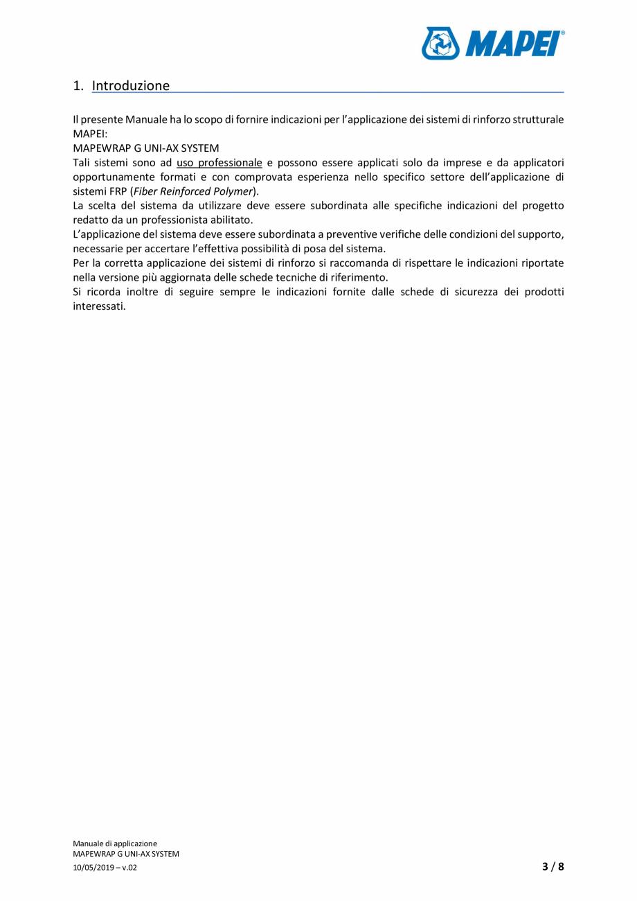 Pagina 3 - Sistem de consolidare structurala - Manual de prepapre si aplicare MAPEI MAPEWRAP G...