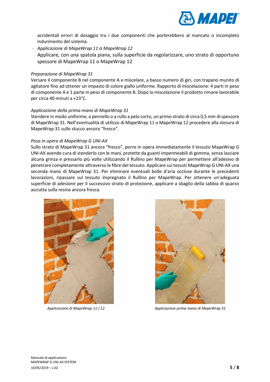 Pagina 5 - Sistem de consolidare structurala - Manual de prepapre si aplicare MAPEI MAPEWRAP G...