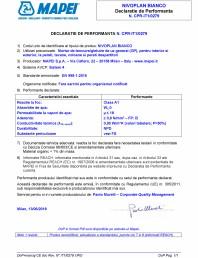 Declaratie de performanta - Mortar de tencuire gletuire de uz general (GP) pentru interior si exterior