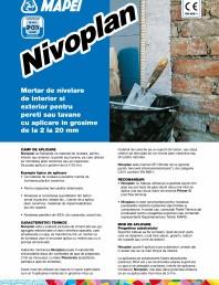 Mortar de nivelare de interior si exterior pentru pereti sau tavane cu aplicare in grosime de