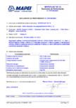 Declaratie de performanta - Aditiv reducator de apa plastifiant EN 934-2 T 2 MAPEI - MAPEPLAST