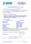 Declaratie de performanta - Aditivi superplastifianți/puternic reducători de apă MAPEI - MAPESCREED 704