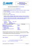 Declaratie de performanta - Etansant acrilic pentru utilizari nestructurale la interior si exterior MAPEI - MAPEFLEX