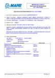 Declaratie de performanta - Etansant poliuretanic pentru utilizari nestructurale la interior si exterior MAPEI - MAPEFLEX