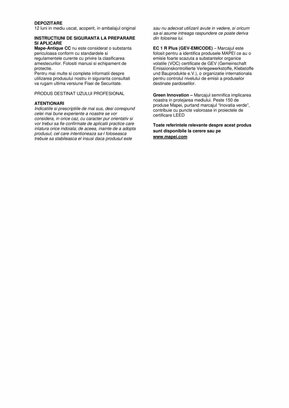 Pagina 3 - Tencuiala de asanare pe baza de var si Eco-Pozzolan pentru restaurarea zidariilor vechi...