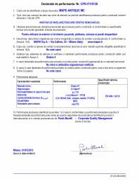 Declaratie de performanta - Mortar de nivelare/tencuire pentru renovari