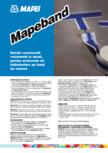 Banda cauciucata rezistenta la alcali, pentru sistemele de hidroizolare pe baza de ciment MAPEI - MAPEBAND