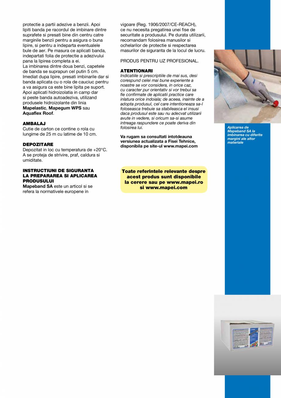 Pagina 3 - Banda autoadeziva butilica, cu insertie de tesut netesut rezistent la alcali, pentru...