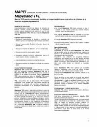 Banda TPE pentru etansarea flexibila si impermeabilizarea rosturilor de dilatare si a fisurilor supuse deplasarilor