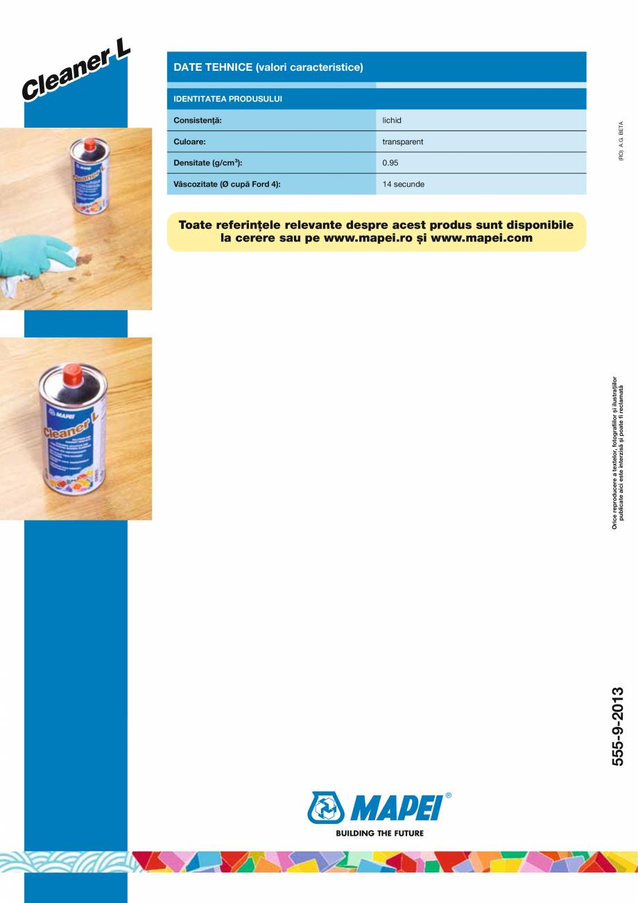 Pagina 2 - Solutie pentru curatarea parchetului prefinit si a pardoselilor din lemn MAPEI CLEANER L ...