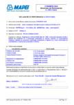 Declaratie de performanta pentru aditiv accelerator de intarire pentru betoane MAPEI - DYNAMON HAA