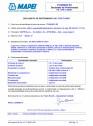 Declaratie de performanta pentru aditiv superplastifiant/puternic reducator de apa