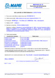 Declaratie de performanta pentru aditiv antrenor de aer pentru betoane MAPEI - MAPEAIR AE 10