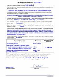Declaratie de performanta - Produs destinat protejarii suprafetelor din beton - impregnare hidrofuga