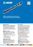 Aditiv accelerator de priza fara cloruri pentru mortare si betoane MAPEI - MAPEFAST CF/P