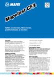 Aditiv accelerator, fara cloruri, pentru betoane si mortare MAPEI - MAPEFAST CF/L
