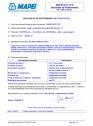 Declaratie de performanta - Aditiv accelerator de intarire EN 934-2,(T. 7)