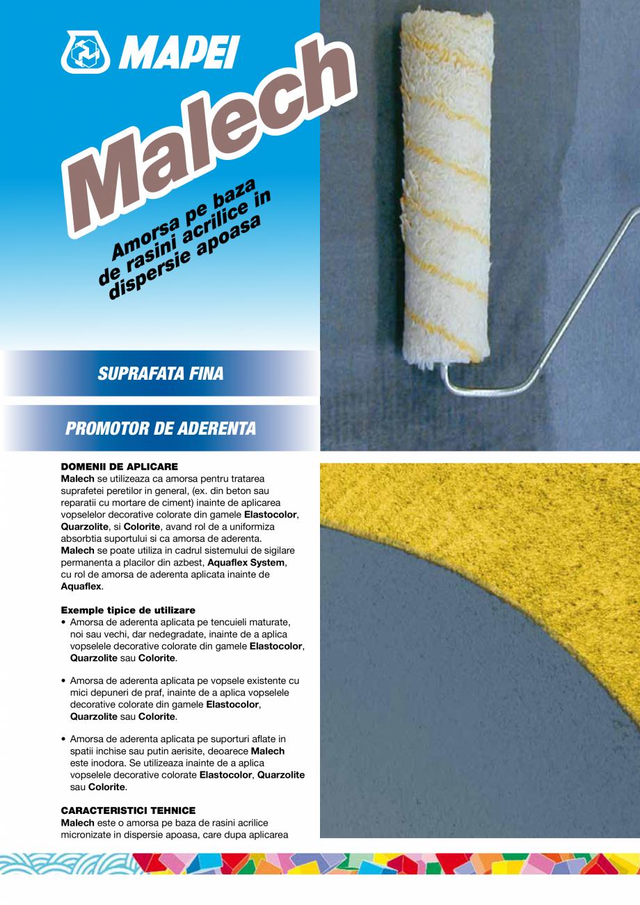 Pagina 1 - Amorsa pe baza de rasini acrilice in dispersie apoasa MAPEI MALECH Fisa tehnica Romana h ...