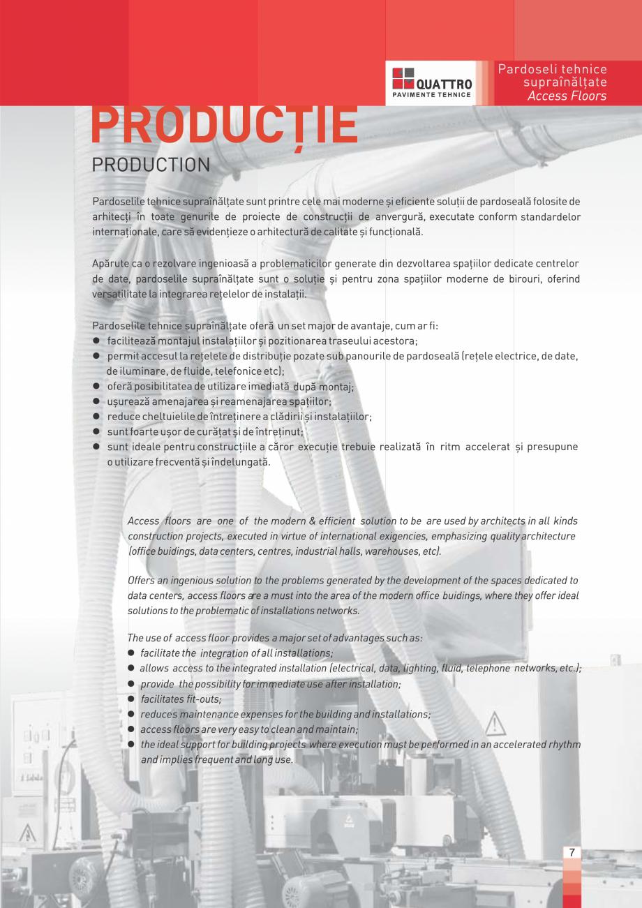 Pagina 7 - Pardoseli suprainaltate QUATTRO Panou din sulfat de calciu Catalog, brosura Romana