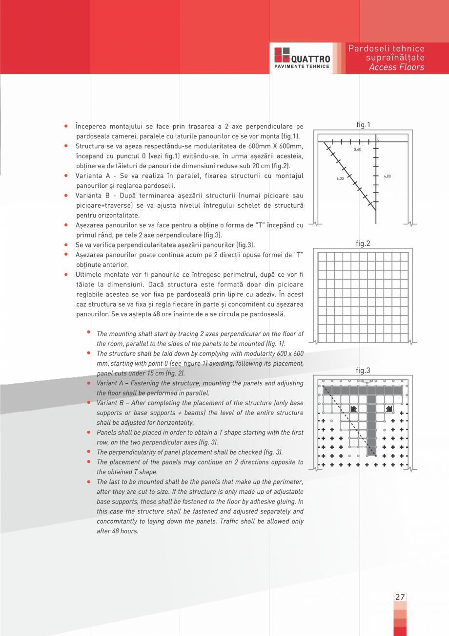 Pagina 27 - Pardoseli suprainaltate QUATTRO Panou din sulfat de calciu Catalog, brosura Romana