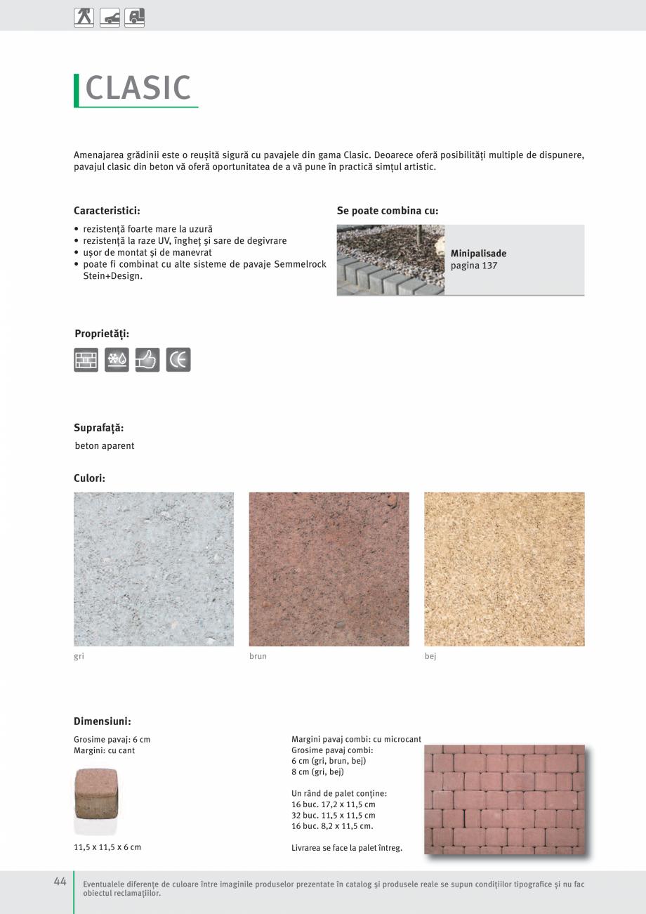 Pagina 46 - Idei pentru gradina 2017 PENTER PIAZZA Catalog, brosura Romana ală specifică betonului...