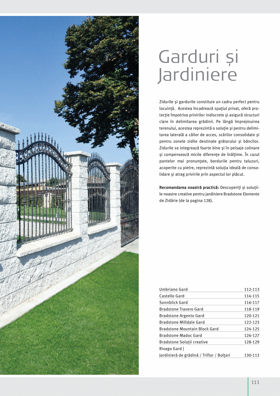 Pagina 113 - Idei pentru gradina 2017 PENTER PIAZZA Catalog, brosura Romana  x 25 cm cu fantă de 15...