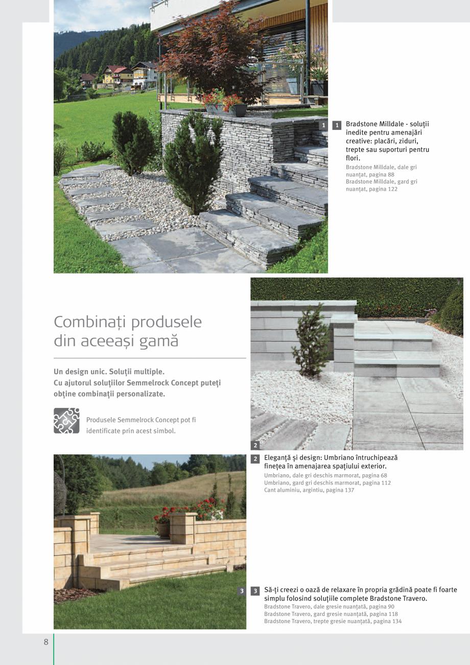 Pagina 10 - Idei pentru gradina 2017 SEMMELROCK STEIN+DESIGN Catalog, brosura Romana . Bradstone...