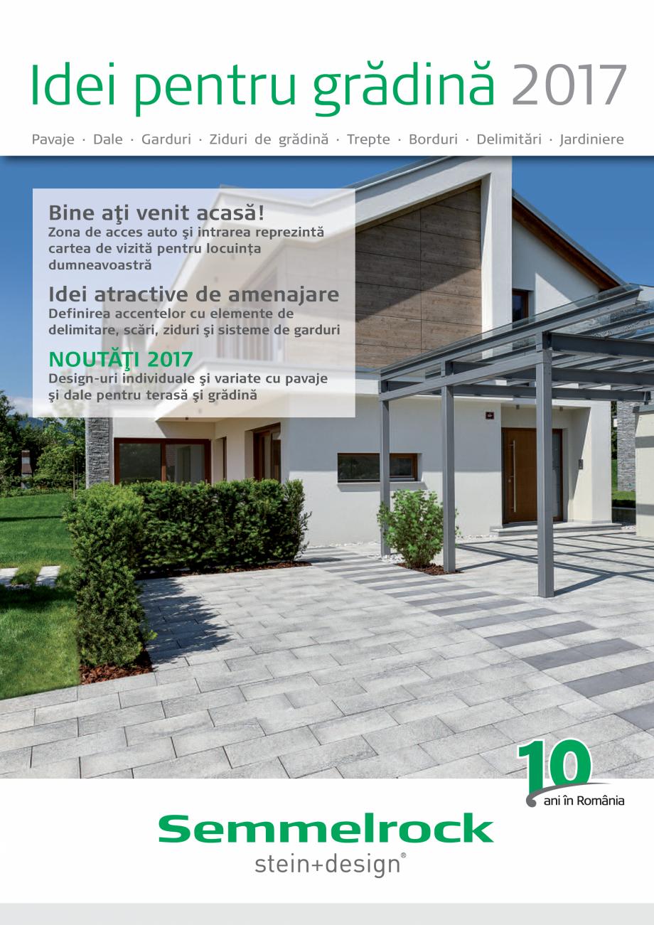 Pagina 1 - Idei pentru gradina 2017 SEMMELROCK STEIN+DESIGN Catalog, brosura Romana Idei pentru...