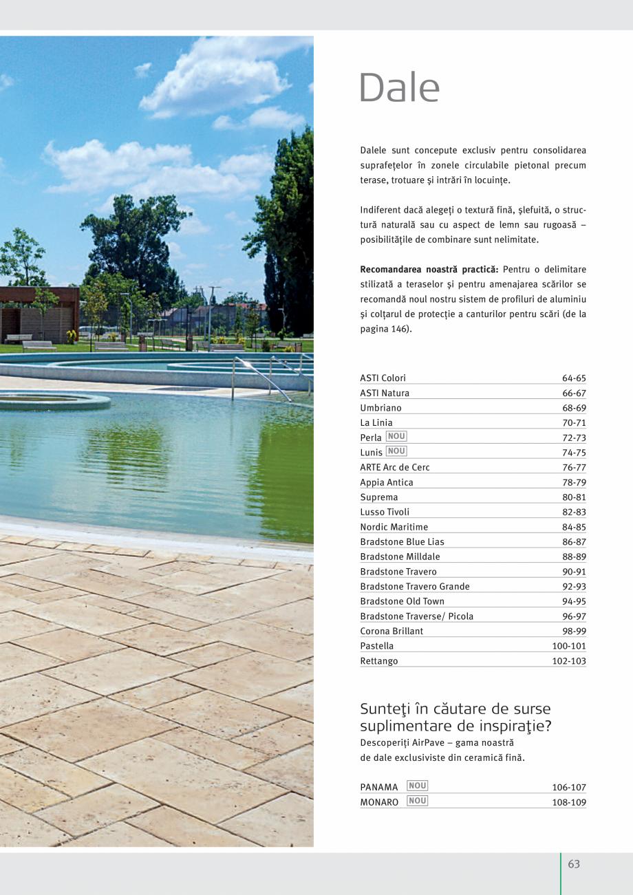 Pagina 65 - Idei pentru gradina 2017 SEMMELROCK STEIN+DESIGN Catalog, brosura Romana  Eventualele...