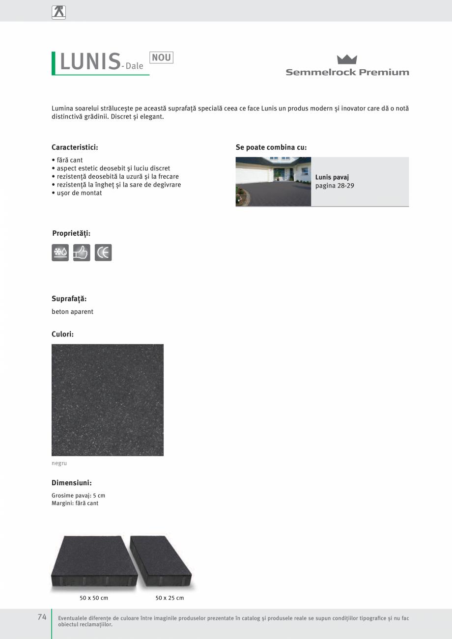 Pagina 76 - Idei pentru gradina 2017 SEMMELROCK STEIN+DESIGN Catalog, brosura Romana iscină 45 x 45...