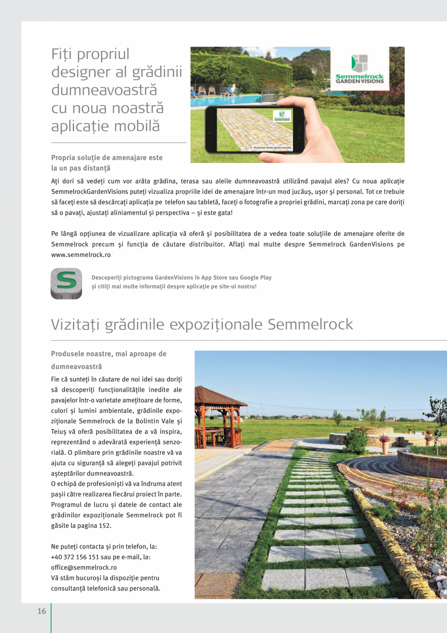 Pagina 18 - Idei pentru gradina 2017 SEMMELROCK STEIN+DESIGN Catalog, brosura Romana  reprezentând ...