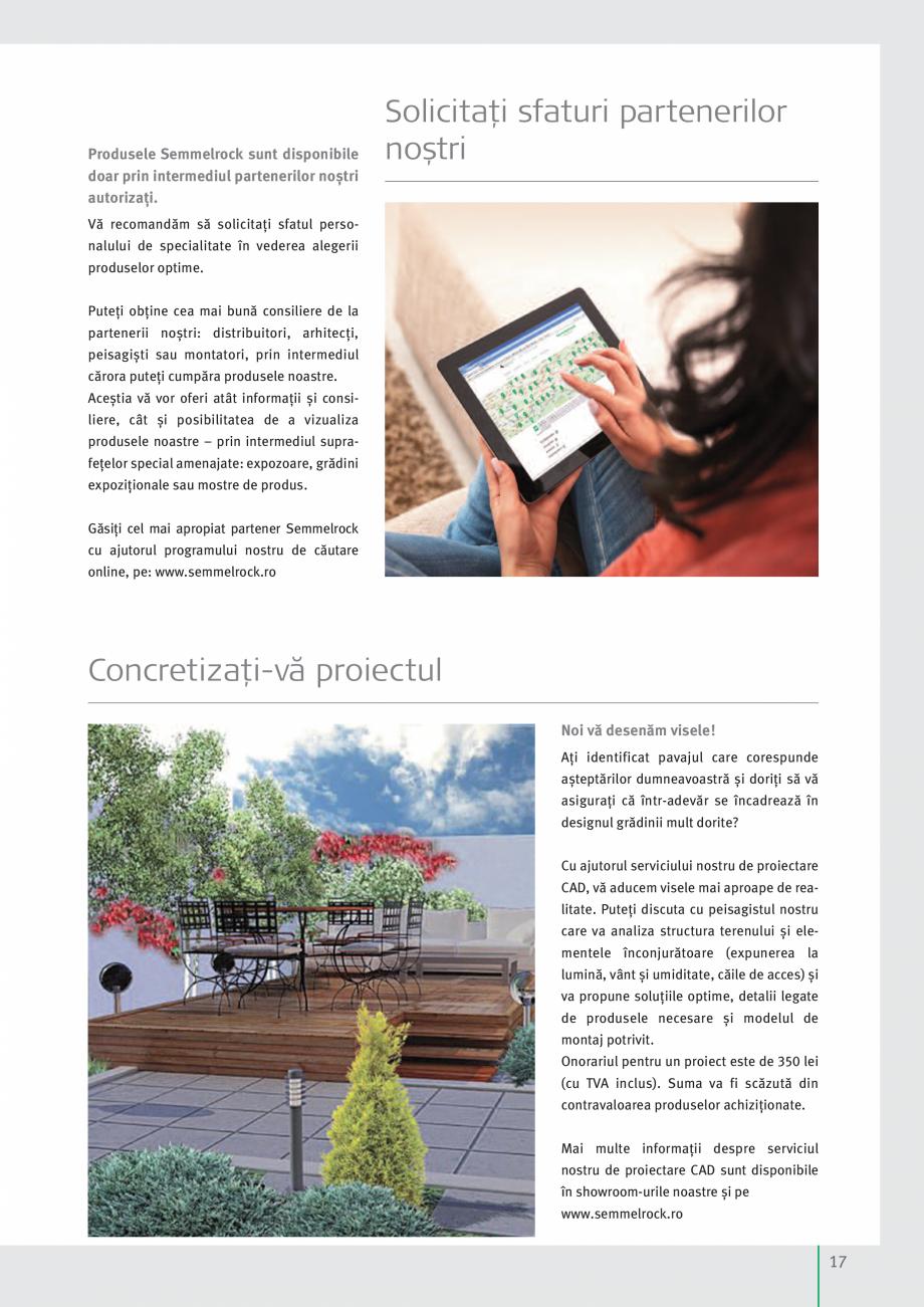 Pagina 19 - Idei pentru gradina 2017 SEMMELROCK STEIN+DESIGN Catalog, brosura Romana e noastre....